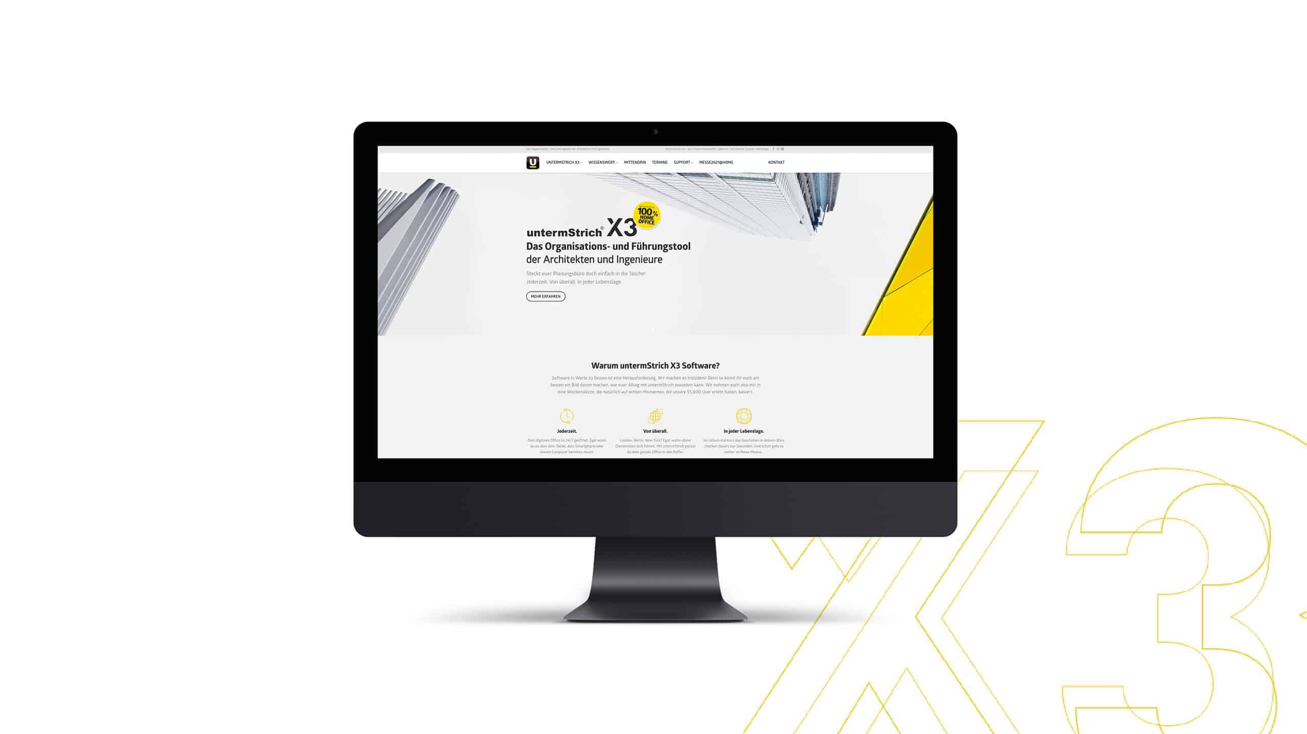 Webdesign | Desktop View | untermstrich.com